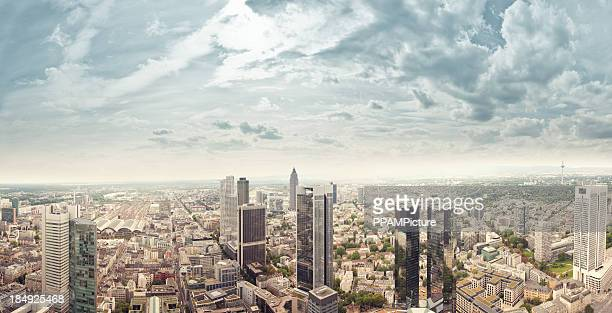 frankfurt skyscrapers - frankfurt stock pictures, royalty-free photos & images