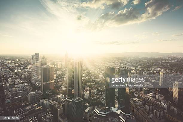 frankfurt sunrise - frankfurt stock pictures, royalty-free photos & images