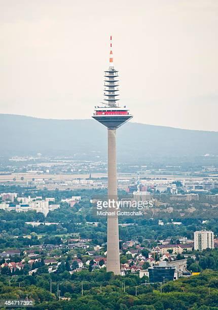 Frankfurt Television Tower on August 14 2015 in Frankfurt Germany