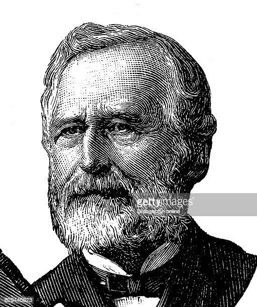 kfriedrich karl biedermann 1812 1901 a german politician journalist and professor of philosophy wood engraving about 1880