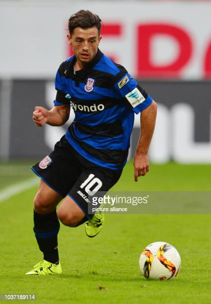 Frankfurt's Besar Halimi in action during the German second Bundesliga match between SpVgg Greuther Fuerth and FSV Frankfurt at the Stadion am...