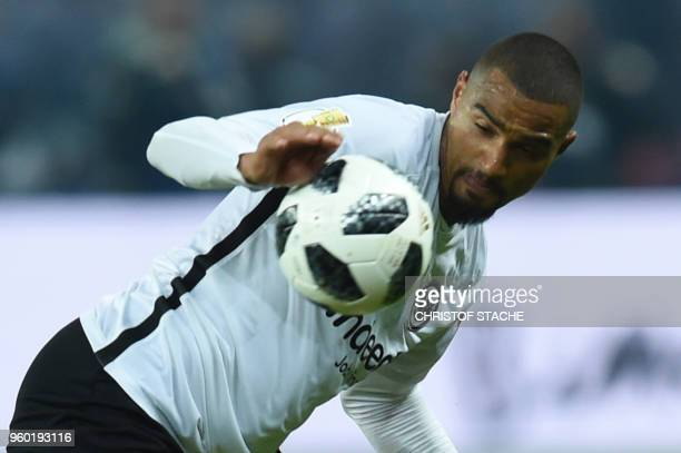 Frankfurt's Ghanaian midfielder KevinPrince Boateng appear to touch the ball with his hand during the German Cup DFB Pokal final football match FC...