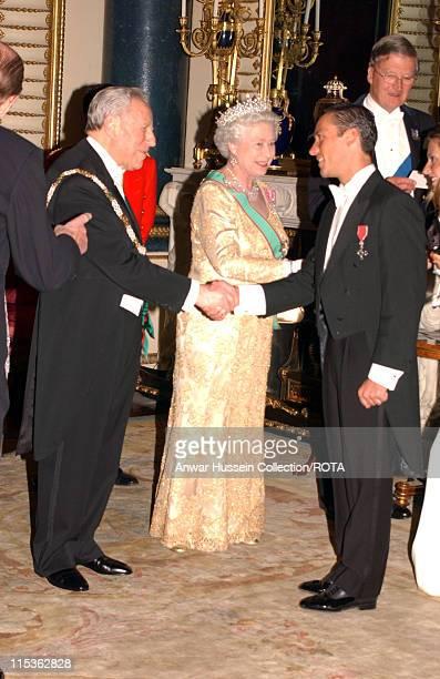 Franki Dettori greets HM The Queen Elizabeth II and the Italian Republic President as the Queen welcomes the Italian Republic President and his wife...