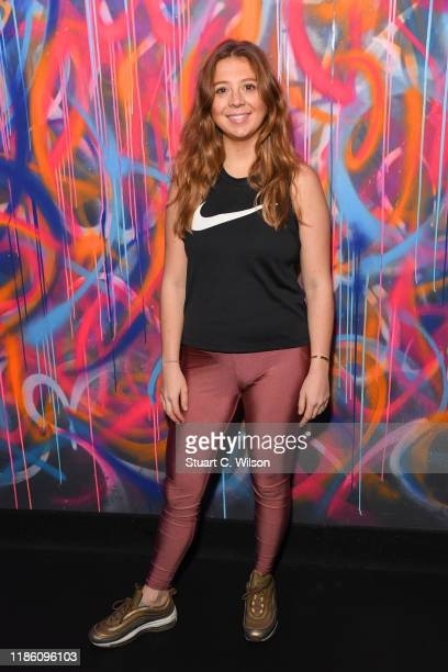 Franki Georghiou takes part in a charity KOBOX class at KOBOX Marylebone raising funds for Rainbow Railroad a charity which helps members of the...