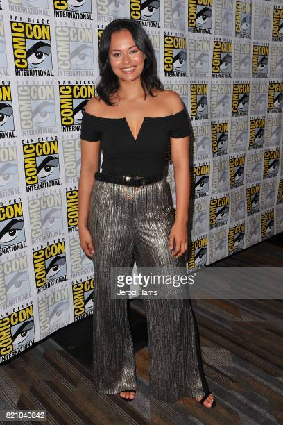Frankie Adams attends 'The Expanse' press line at Comic Con 2017 Day 3 on July 22 2017 in San Diego California