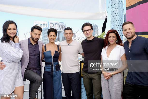 Frankie Adams Cas Anvar Dominique Tipper Tim Kash Steven Strait Shohreh Aghdashloo and Wes Chatham attend the #IMDboat at San Diego ComicCon 2019 Day...