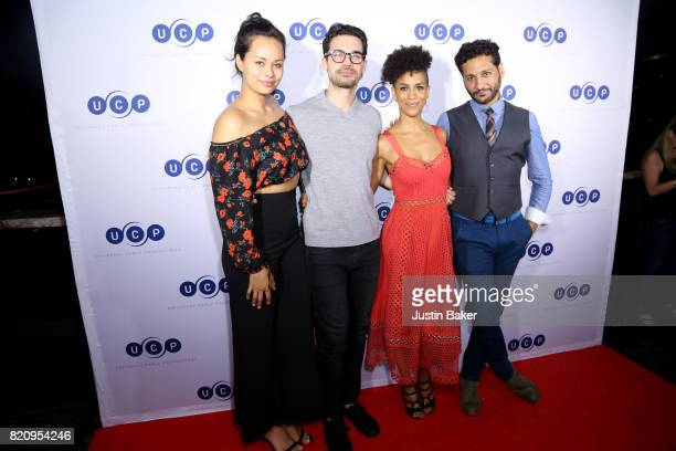 Frankie Adams Steven Strait Dominique Tipper and Cas Anvar from The Expanse attend Universal Cable Productions Annual ComicCon Celebration at Omnia...