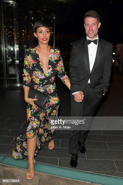 Frankie and Wayne Bridge leaving the Ben Foden testimonial dinner on May 8 2018 in London England