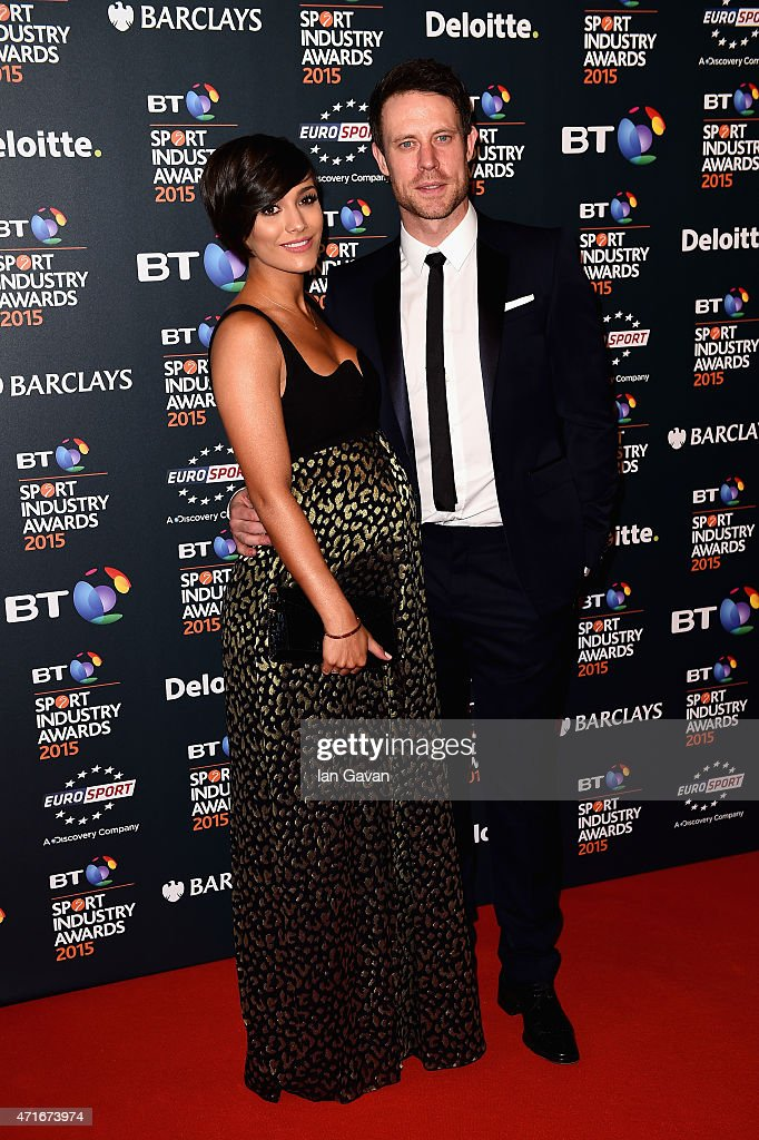 Frankie and Wayne Bridge pose on the red carpet at the BT Sport Industry Awards 2015 at Battersea Evolution on April 30, 2015 in London, England. The BT Sport Industry Awards is the most prestigious commercial sports awards ceremony in Europe, where over 1750 of the industry's key decision-makers mix with high profile sporting celebrities for the most important networking occasion in the sport business calendar.