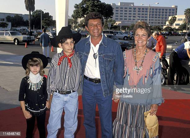"""Frankie Avalon and family during SHARE """"40 Years of SHARE"""" Celebration at Santa Monica Civic Auditorium in Santa Monica, California, United States."""