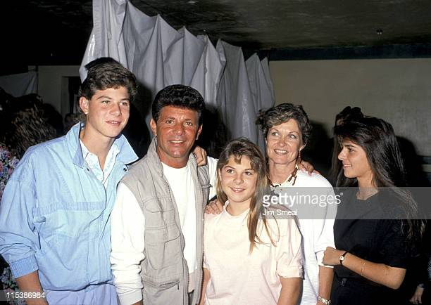 Frankie Avalon and family during Starlight Foundation Benefit - September 22, 1988 at Ed Debevic's Restaurant in Beverly Hills, California, United...