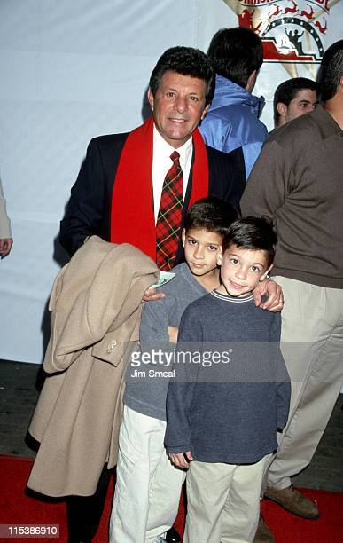 Frankie Avalon and grandchildren during Hollywood Christmas Parade at Hollywood Boulevard in Hollywood California United States