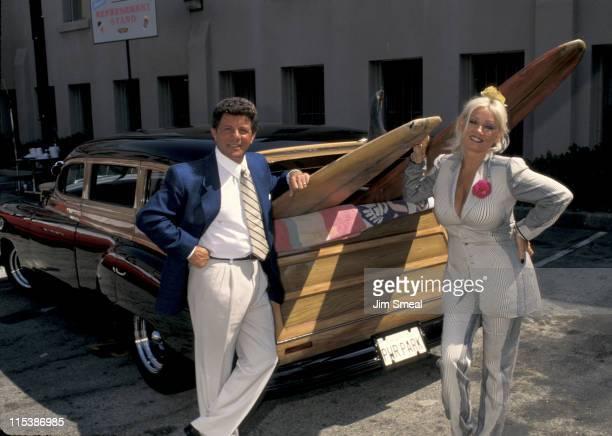 Frankie Avalon and Mamie Van Doren during Summer TV Critics Press Tour at Ritz Carlton Hotel in Pasadena California United States