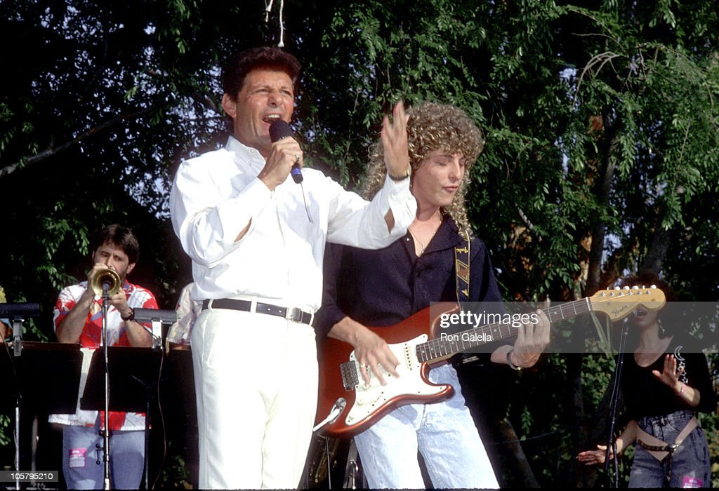 Frankie Avalon during Frankie Avalon & Annette Funicello Concert Tour at Calico Square, Knott's Berry Farm in Buena Park, California, United States.