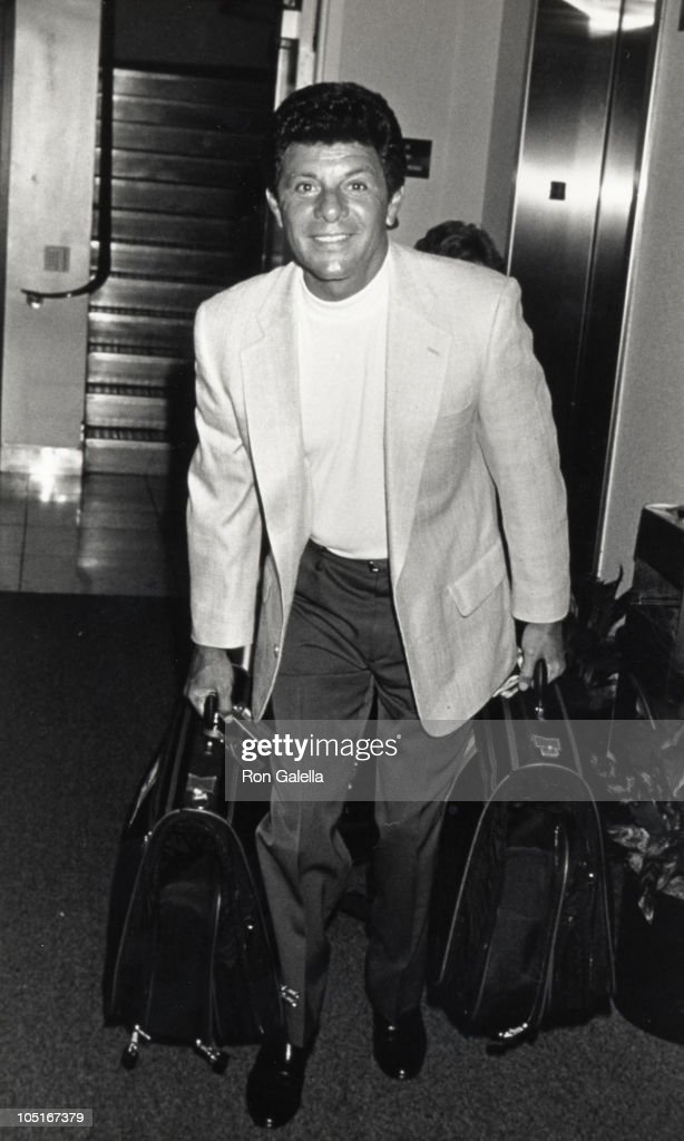 Frankie Avalon Arriving at LAX from New York