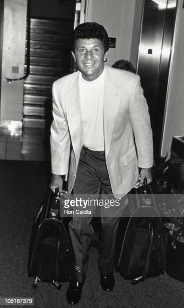 Frankie Avalon during Frankie Avalon Arriving at LAX from New York at Los Angeles International Airport in Los Angeles California United States
