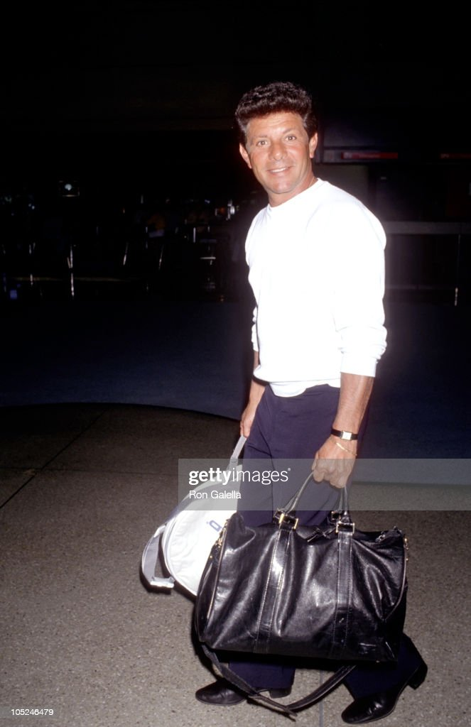 Frankie Avalon during Sighting at Los Angeles International Airport at Los Angeles International Airport in Los Angeles, California, United States.