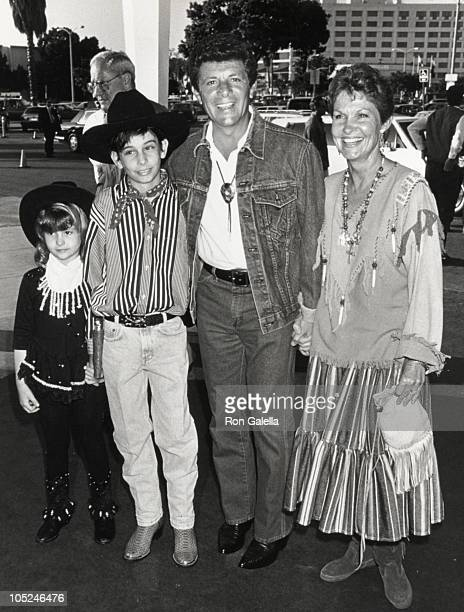 "Frankie Avalon & family during SHARE ""40 Years of SHARE"" Celebration at Santa Monica Civic Auditorium in Santa Monica, California, United States."