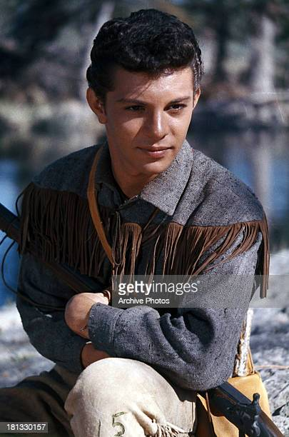 Frankie Avalon in a scene from the film 'The Alamo' 1960