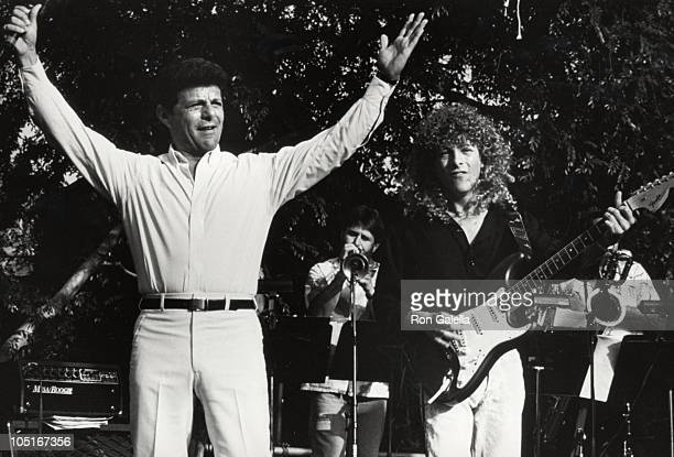 Frankie Avalon & son Tony during Frankie Avalon & Annette Funicello Concert Tour at Calico Square, Knott's Berry Farm in Buena Park, California,...
