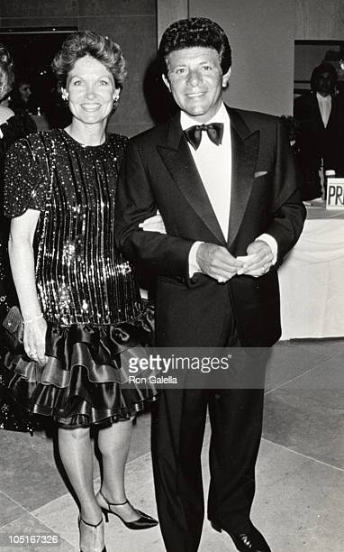 Frankie Avalon wife during 1991 Odyssey Ball at Beverly Hilton Hotel in Beverly Hills California United States