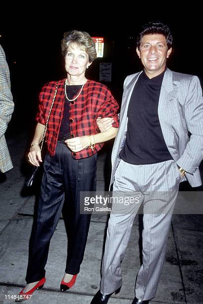 Frankie Avalon Wife during Outside Spago's at Spago in Hollywood California United States