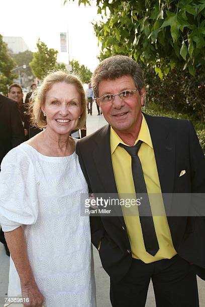 Frankie Avalon with wife Kathryn Diebel arrive at the opening night party for Jersey Boys the 2006 Tony Award winner for Best Musical that tells the...