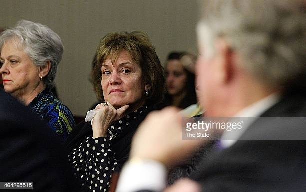 Frankie Bailey Dyches the niece of Betty June Binnicker who was murdered listens to witness testimonies The 70yearold case of George Stinney known as...