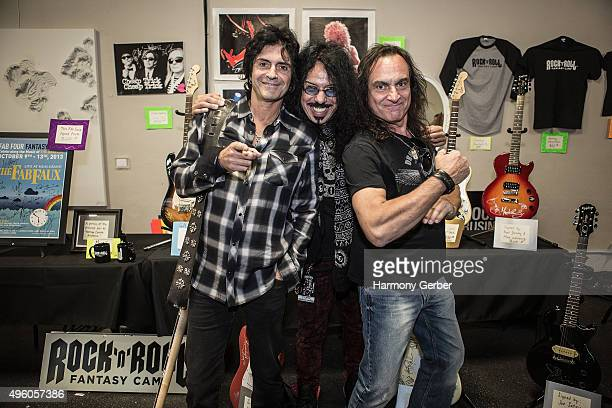 Frankie Banali Phil Soussan and Vinny Appice attend the Rock 'N' Roll Fantasy Camp at Amp Rehearsal on November 6 2015 in North Hollywood California