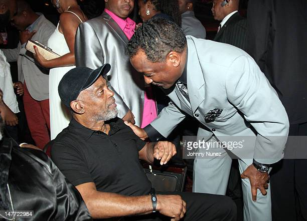 Frankie Beverly and Donnie Simpson attend the 2012 BET Awards at The Shrine Auditorium on July 1 2012 in Los Angeles California