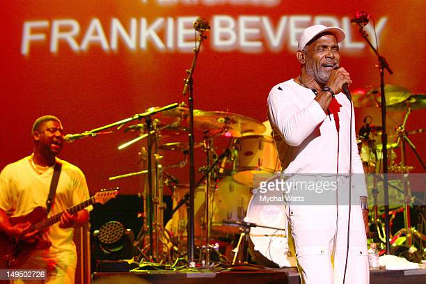 Frankie Beverly and MAZE performs at the Mann Center For Performing Arts on July 27 2012 in Philadelphia Pennsylvania