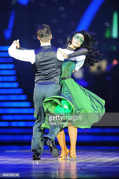 Frankie Bridge and Kevin Clifton perform during the Strictly Come Dancing Live Tour rehearsals Strictly Come Dancing Live Tour opens tomorrow 22nd...