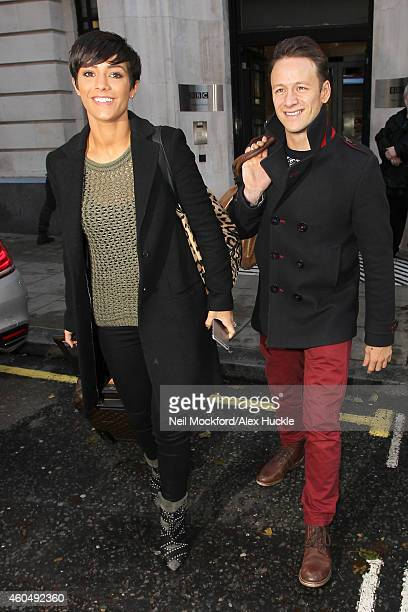 Frankie Bridge and Kevin Clifton seen at BBC Radio 2 on December 15 2014 in London England