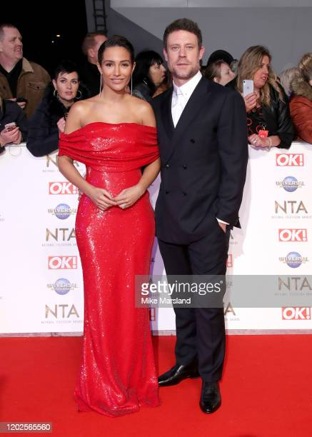Frankie Bridge and Wayne Bridge attend the National Television Awards 2020 at The O2 Arena on January 28 2020 in London England