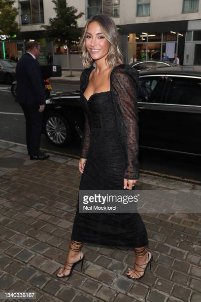 Frankie Bridge arrives for The Sun's Who Cares Wins Awards 2021 at The Roundhouse on September 14, 2021 in London, England.
