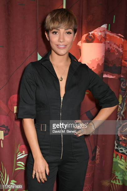 Frankie Bridge attends a private dinner celebrating the launch of Donna Ida's 'Cassandra' jumpsuit at Black Roe on September 24 2019 in London England