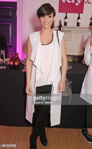 Frankie Bridge attends as Rochelle Humes presents her SS15 collection for verycouk at The Portico Rooms Somerset House on March 24 2015 in London...