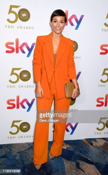 Frankie Bridge attends the 2019 'TRIC Awards' held at The Grosvenor House Hotel on March 12 2019 in London England