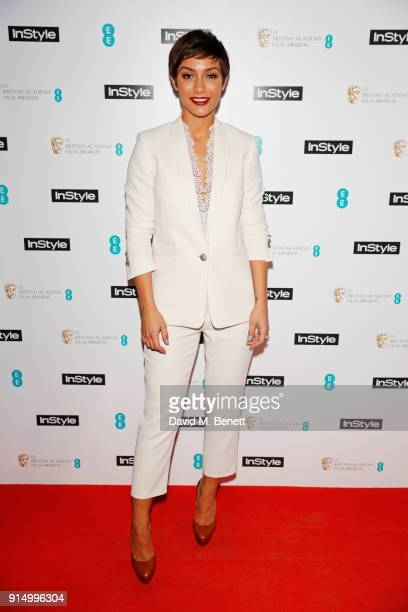 Frankie Bridge attends the InStyle EE Rising Star Party at Granary Square on February 6 2018 in London England