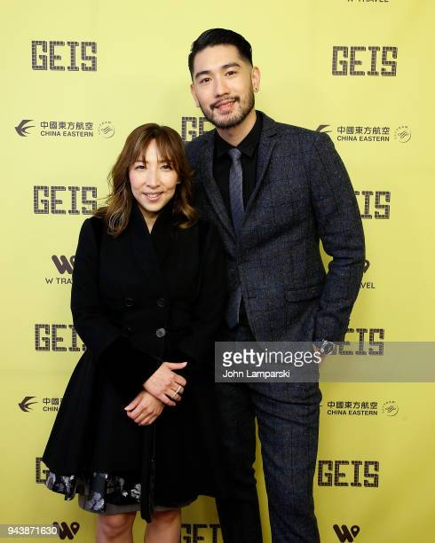 Frankie Chen and Godfrey Gao attend Global Entertainment Industry Summit at the Manhattan Center on April 9 2018 in New York City