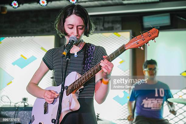 Frankie Cosmos performs at Headrow House on September 6 2016 in Leeds England