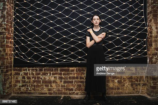 Frankie Cosmos poses backstage at Headrow House on September 6 2016 in Leeds England