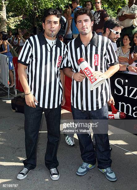 Frankie Delgado and Brody Jenner host Levi's Size Does Matter game on August 6 2008 in New York City