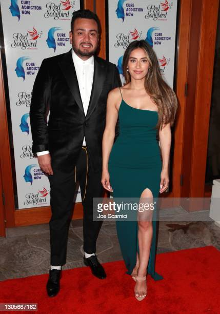 """Frankie Delgado and Jen Delgado attend a private event with the cast of MTV's """"The Hills"""" hosted by Cure Addiction Now & The Red Songbird Foundation..."""