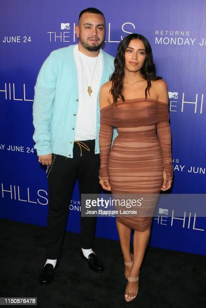 Frankie Delgado and Jennifer Delgado attend the premiere of MTV's The Hills New Beginnings at Liaison on June 19 2019 in Los Angeles California