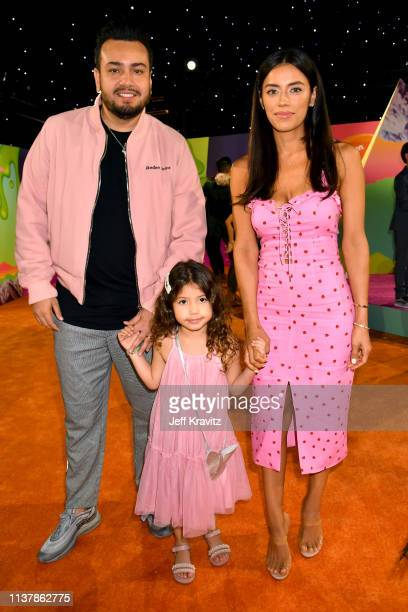 Frankie Delgado Bella Delgado and Jennifer Acosta attend Nickelodeon's 2019 Kids' Choice Awards at Galen Center on March 23 2019 in Los Angeles...