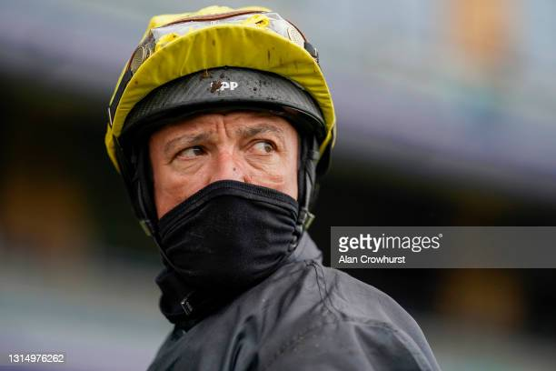 Frankie Dettori after riding Stradivarius to win The Longines Sagaro Stakes at Ascot Racecourse on April 28, 2021 in Ascot, England. Sporting venues...