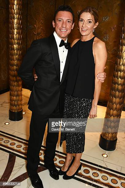 Frankie Dettori and Catherine Dettori attend the 25th Cartier Racing Awards at The Dorchester on November 10 2015 in London England