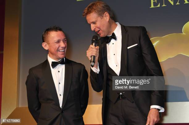 Frankie Dettori and Ed Chamberlin attend The Cartier Racing Awards 2017 at The Dorchester on November 14 2017 in London England