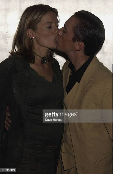 Frankie Dettori and his wife attend the UK Premiere of Sea Biscuit at Warner West End cinema followed by party at Park Lane Hotel on October 28 2003...